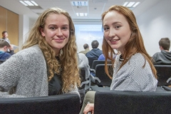 FREE PIC - NO REPRO FEE - Jan 23, 2016 Bebhinn Twomey, Mount St. Michael School, Rosscarbery (left) and Emily Carr, Mount Mercy College, Cork who attended the HighTech TY - TechnoDen Innovation Competition 2016 which took place at the Tyndall National Ins