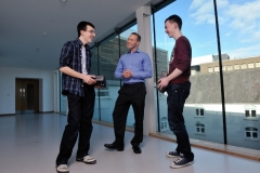 REPRO FREEHIGH TECH ELEC SHOWCASES FUTURE CAREERSOdhran OÕCallaghan, Christian Brothers College Cork;  Dr Mark Barry of the Tyndall Institute  and Luke Gayer, Presentation Brothers College pictured at the HighTechElec Transition Year Work Experience Pro