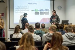 FREE PIC - NO REPRO FEE - Jan 23, 2016 Students taking part in the HighTech TY - TechnoDen Innovation Competition 2016 which took place at the Tyndall National Institute in Cork. Pic: Ger McCarthy