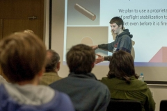 FREE PIC - NO REPRO FEE - Jan 23, 2016 Conor Murphty from the Patrician Academy, Mallow speaking at the HighTech TY - TechnoDen Innovation Competition 2016 which took place at the Tyndall National Institute in Cork. Pic: Ger McCarthy