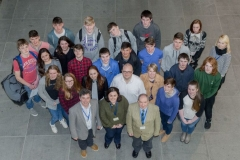 FREE PIC - NO REPRO FEE - Jan 23, 2016 Students who toook part in the HighTech TY - TechnoDen Innovation Competition 2016 which took place at the Tyndall National Institute in Cork. Included are judges Dr. Eileen Hurley, Tyndall Nat. Institute; Dr. Kevin