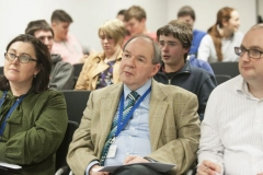 FREE PIC - NO REPRO FEE - Jan 23, 2016 Judges Dr. Eileen Hurley, Tyndall Nat. Institute; Dr. Kevin McCarthy, UCC; Dr. Andrew Marsh, Tyndall Nat. Institute listening to presentations in the HighTech TY - TechnoDen Innovation Competition 2016 which took pla