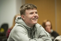FREE PIC - NO REPRO FEE - Jan 23, 2016 Mark Crowley, Christian Brothers College enjoying the HighTech TY - TechnoDen Innovation Competition 2016 which took place at the Tyndall National Institute in Cork. Pic: Ger McCarthy
