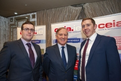 FREE PIC - NO REPRO FEE - Feb 11, 2020 From left: Conor Walsh, CIT Student of the Year for 2019 with Sean O'Sullivan and Luke O'Mahony at the 35th AGM of the CEIA, Cork's Technology Network which took place at the Maryborough Hotel. Pic: Brian Lougheed