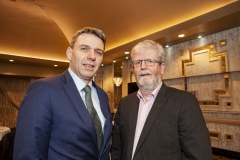 FREE PIC - NO REPRO FEE - Feb 11, 2020 Sean Moran, vice-chairman of the CEIA (left) with Declan Lordan, Douglas Controls and Automation at the 35th AGM of the CEIA, Cork's Technology Network which took place at the Maryborough Hotel. Pic: Brian Lougheed