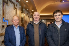 FREE PIC - NO REPRO FEE - Feb 11, 2020 From left: Jerry Fitzpatrick, Sec/Treas. CEIA with Joe Enright and Thomas Moore, both of FLEX at the 35th AGM of the CEIA, Cork's Technology Network which took place at the Maryborough Hotel. Pic: Brian Lougheed