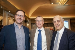 FREE PIC - NO REPRO FEE - Feb 11, 2020 From left: John Byrne, Netgear; Peter Parbrook, UCC Electrical and Electronic Eng and Jorge Oliveira, UCC at the 35th AGM of the CEIA, Cork's Technology Network which took place at the Maryborough Hotel. Pic: Brian L