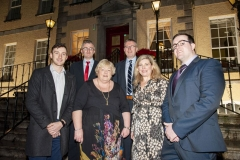 FREE PIC - NO REPRO FEE - Feb 11, 2020 From left: Barry Ryan, UCC Student of the Year 2019; Sean Finn, teacher at Colaiste Daibheid (award recipient); Rosemary Ferriter, teacher at St. Vincent's  Sec. Schoool (award recipient); Cathal Reilly, Boston Scien