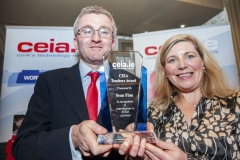 FREE PIC - NO REPRO FEE - Feb 11, 2020 Valerie Cowman, chair of Cork ETB presenting Sean Finn, Col. Daibheid with the CEIA Teachers' Award in recognition of his contributions to STEM Activities at the 35th AGM of the CEIA, Cork's Technology Network which