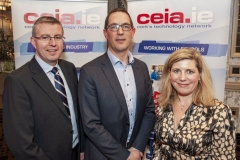FREE PIC - NO REPRO FEE - Feb 11, 2020 Cathal Reilly, chair of the CEIA (left); Conor Healy, Chief Executive, Cork Chamber of Commerce (Guest Speaker) ane Valerie Cowman, chair of Cork ETB at the 35th AGM of the CEIA, Cork's Technology Network which took