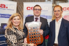 FREE PIC - NO REPRO FEE - Feb 11, 2020 Valerie Cowman, chair of Cork ETB presenting Conor Walsh, CIT's Student of the Year for 2019 in Electronic and Electrical Engineering with the CEIA's perpetual plaque in recognition of his achievement; also included
